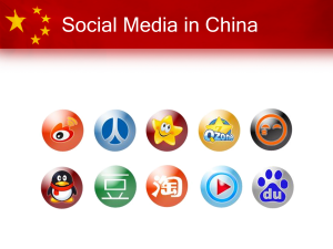 Social Media in China: een introductie